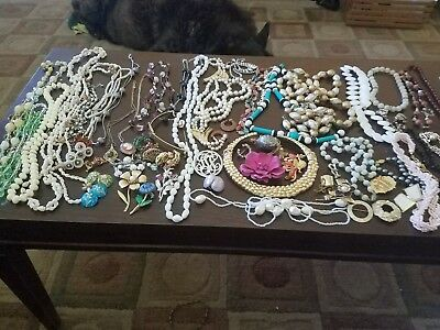 lot of vintage jewelry right put of grandmas estate