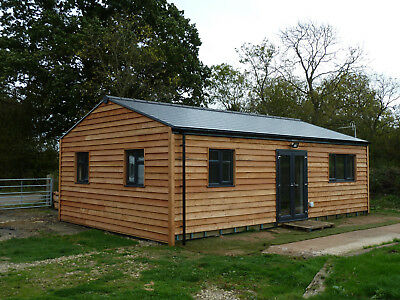 LOG CABIN. 2 BEDS,SELF CONTAINED. 9M x 6M. £925M2.       PART 1 OF 2
