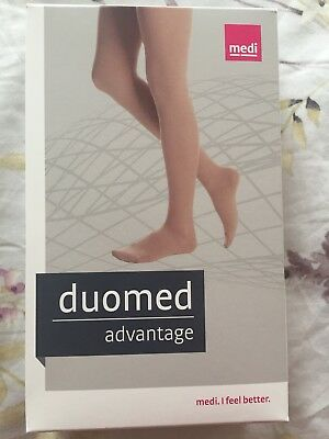 New! Medi Duomed Advantage Thigh Highs Open Toe Beige 30-40 Size small