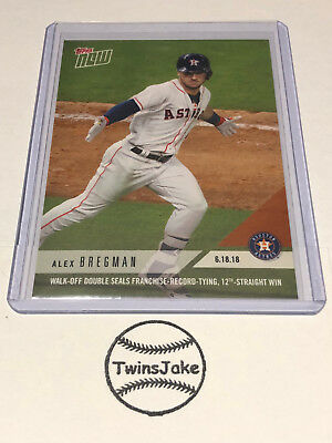 2018 Topps NOW MLB 341 Alex Bregman Walk-Off Double Seals 12th-Straight Win