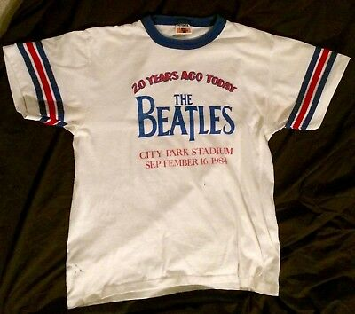 Vintage The Beatles shirt WKNO New Orleans 1984 - XL