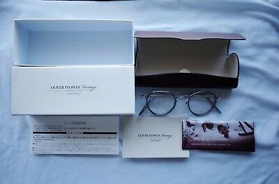 NEW Oliver Peoples Limited Edition WKG Glasses Japan MP246 Grey x Silver $420