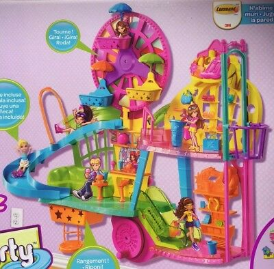 BNIB Polly Pocket Mall On The Wall Polly Shopping HTF Rare Discontinued NRFB