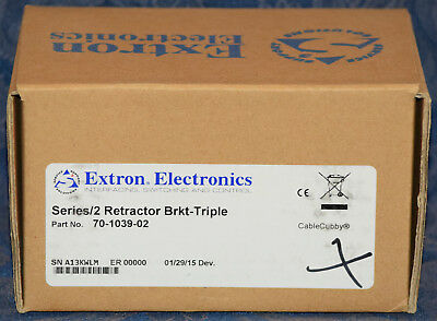 Extron CABLE CUBBY Series/2 Retractor Brkt-Triple, Part # 70-1039-02, NEW in BOX