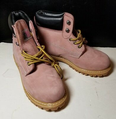 SafetyGirl Nubuck Leather Steel Toe Water Womens Work Boot, 8M FREE SHIPPING
