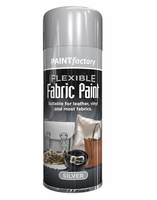 200ML Silver Fabric Spray Paint Leather Vinyl & Much More, Flexible