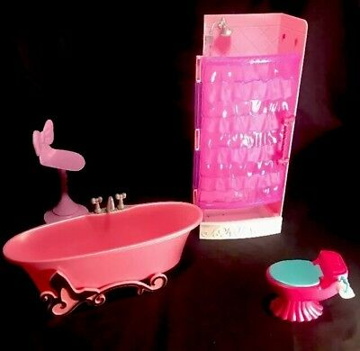 Barbie Glam Dollhouse Furniture Pink And Purple Tub Shower