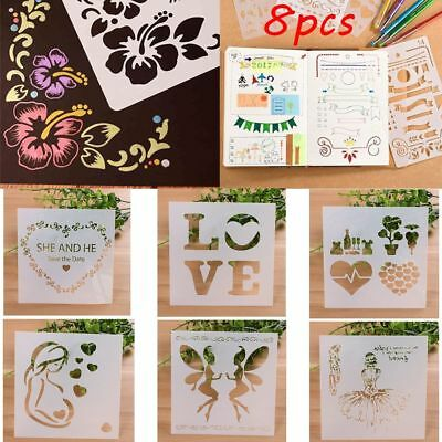 8pcs/set Scrapbooking Mother's Day Layering Stencils Embossing Template