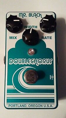Mr. Black Double Chorus - Electric Guitar Effects Pedal, used