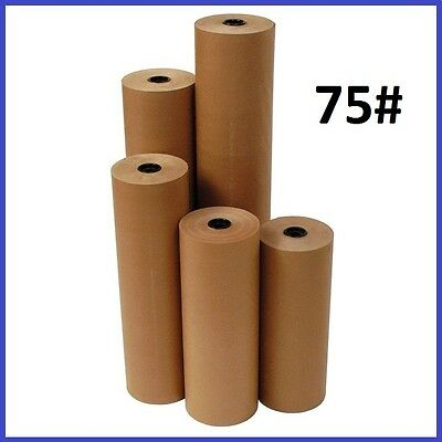 75# Wt. Kraft Brown 475' Roll Shipping Wrapping Void Fill Paper - 6 Sizes Avail.
