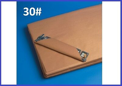 30# Wt Pre-Cut Kraft Shipping Wrapping Paper Sheets - Case Qty. - 7 Sizes Avail.