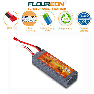 RC 7.4V 5200mAh 30C Battery Deans for RC Airplane Helicopter Car Truck Boat FPV