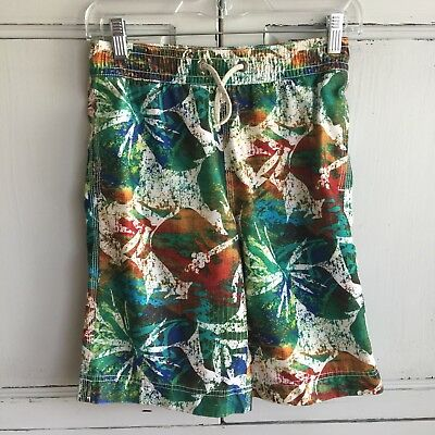 09275d7ee3 Gap Kids Boys Multi Hibiscus Print Swim Trunks Board Shorts Size XL 12  Hawaiian