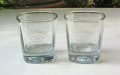 Jack Daniel's Old Number 7 Whisky Pair Of Glasses
