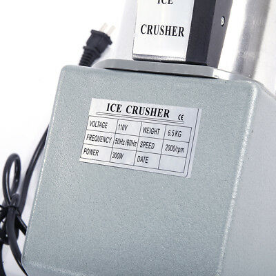 Crusher Shaving Electric Ice Shaver Machine Snow Cone Maker Shaved Icee 143 lbs