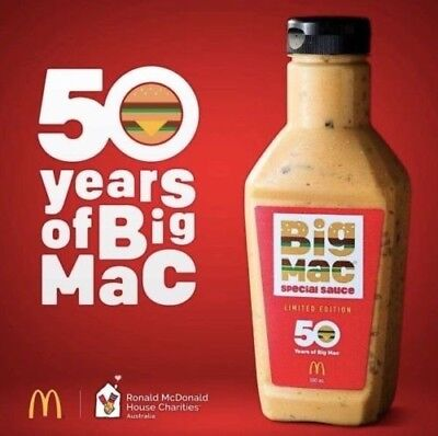 McDonalds Big Mac Sauce 500ml Bottle Limited Edition Only 100,000 Made Fresh
