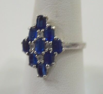 TGGC Gemporia 925 Sterling Silver Blue Sapphires Ring Size 8 (3.7 g )
