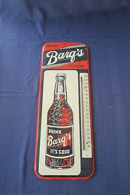 """Vintage Barq's Thermometer-""""Drink Barq's It's Good"""" Donasco 117A- 25.5"""""""