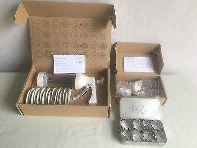 Pampered Chef-Decorator Bottles 1585/cookie Press 1525/mini Cookie Cutters 1095
