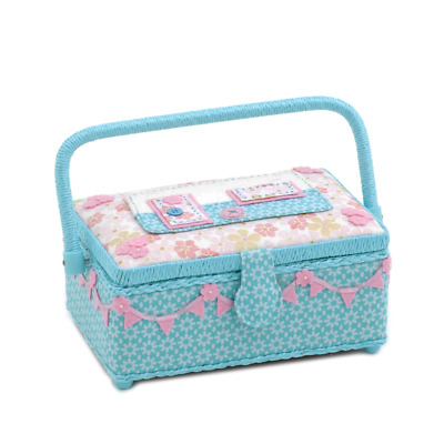 Hobby Gift 'Caravan' Small Novelty Applique Sewing Box 24 x 16 x 11cm (d/w/h)
