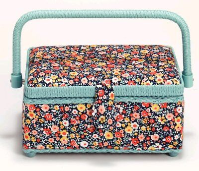 "Prym ""Millefleurs"" Flowers Sewing Basket 26 x 21 x 12 cm"