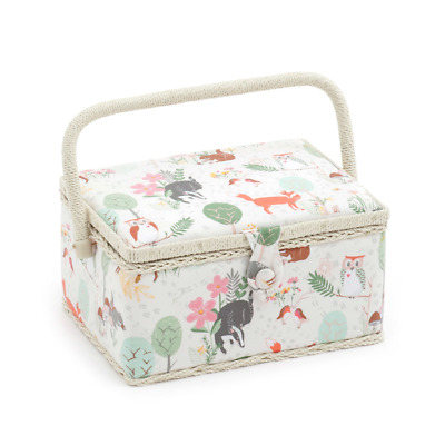 Hobby Gift 'Woodland' Medium Rectangle Sewing Box 18.5 x 26 x 15cm (d/w/h)