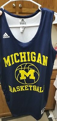 Michigan Basketball Jersey Small Adidas Practice Wolverines Reversible NCAA 58b4161c7
