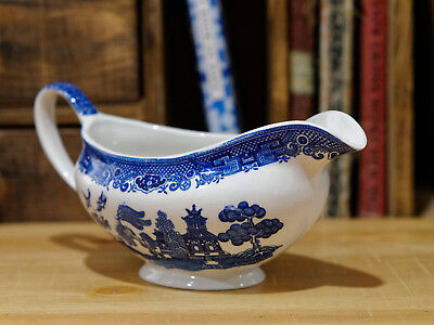 Churchill Gravy Boat - Blue Willow Design