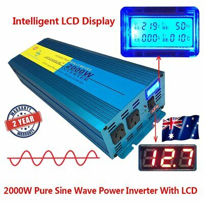 Pure Sine Wave Inverter 2000W / 4000W DC 12V TO AC 240V With LED Double DISPLAY