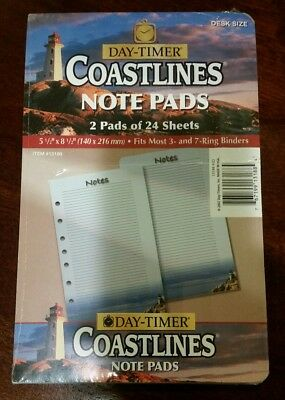 Coastlines Note Pads Desk Size - Planner Note Pages