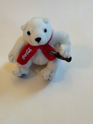 McDonald's 2002 Coca Cola Plush Stuffed Polar Bear Animal Collectible Toy