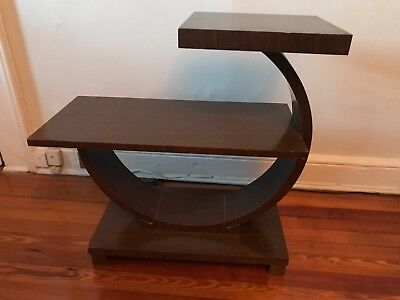 Art Deco Gilbert Rohde Brown Saltman Era End or Occasional Table Walnut?