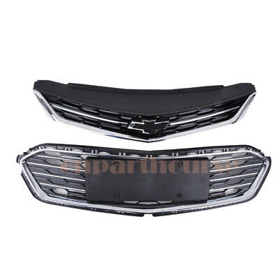 Front Bumper Upper Grill Middle Lower Grille OEM For 2016-2017 Chevrolet Cruze