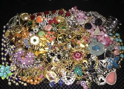 High End Estate Vintage Jewelry Lot Designers Figurals Rhinestone More!