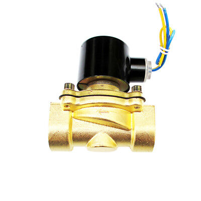 1 inch 12V DC Brass Electric Solenoid Valve NPT Gas Water Air Mineral Oils Water