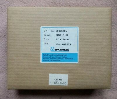 GE Whatman 3030-6185 3mm Chr Cellulose Chromatography Paper 14cmx11cm