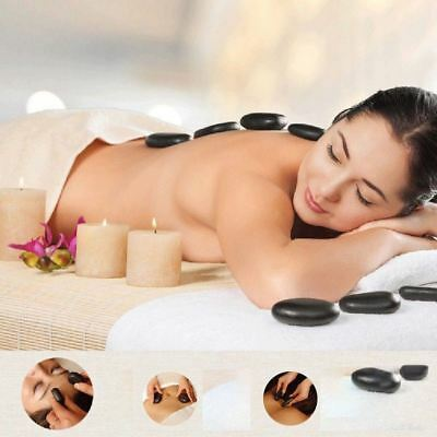 20Pcs Energy Hot Stone Hot Basalt Stone SPA Essential Oil Massage Therapy Kit