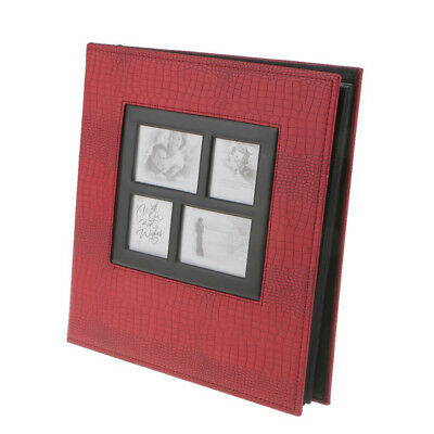 Leather Photo Album 400 Photos Storage Case Family Wedding Baby Memory Film Book