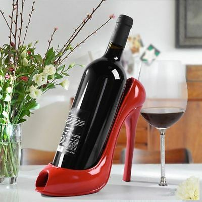High Heel Shoe Wine Bottle Holder Creative Rack Gift Accessories Home Decor