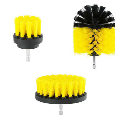 3Pcs/set Round Electric Drill Bristle Brush Rotary Cleaning Tool Power Scrubber