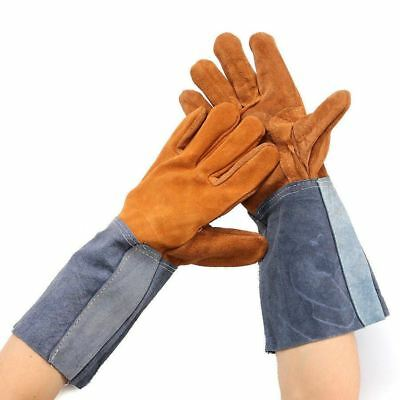 Welding Work Protecting Hand Gloves Welder Soft Cowhide Leather Plus Gloves