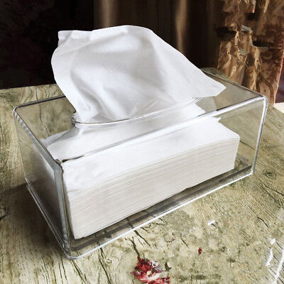 Acrylic Clear Transparent Rectangular Tissue Box Car Paper Holder Storage
