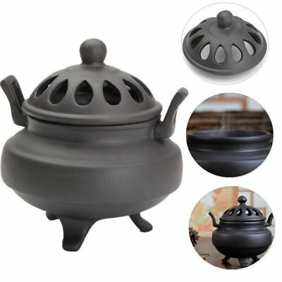 Vintage Ceramic Sandalwood Incense Burner Charcoal Buddhist Censer Holder