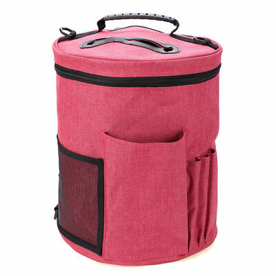 Red Woolen Yarn Storage Bag Canvas Knitting Crochet Ball Holder Organizer Bag