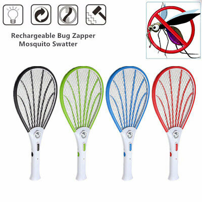 Electric Led Anopheles Portable Insect Fly Zapper Bug Racket Mosquito Swatter