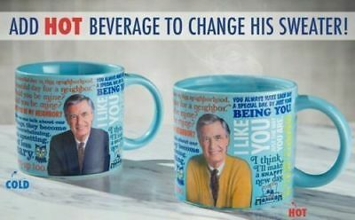 Mr Mister Fred Rogers Heat Activated Sweater Changing Mug  New!