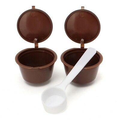 2 x Reusable Coffee filter cup for DOLCE GUSTO Machines F2I7