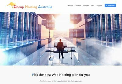 cPanel Website Web Hosting Australian Servers, 250 Mb Storage 20Gb Bandwidth