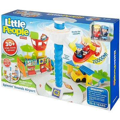 Fisher Price Little People Airport Spinning Sounds 30+ Songs Sounds & Phrases