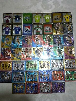 44 bulk 2008 / 2009 rugby league nrl tazos - all different incl 16 club legends